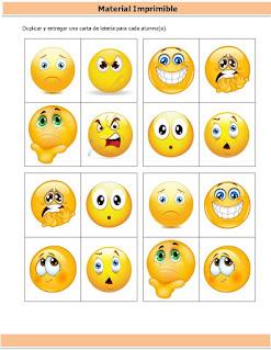lotería de emociones para niños