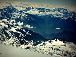 Picos Nevados da Cordilheira dos Andes