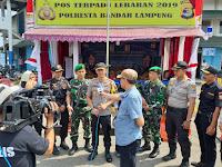 Pastikan Pengamanan Mudik Lebaran Aman, Kapolresta Bandar Lampung Cek Pos Pam dan Pos Yan