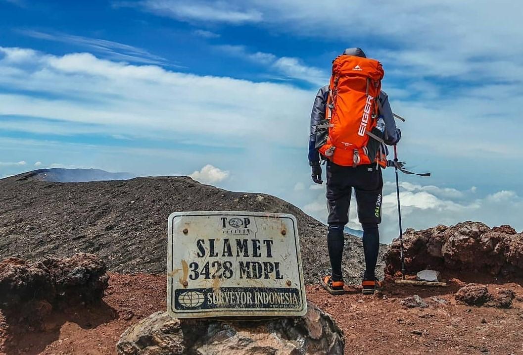 Puncak Gunung Slamet foto oleh vianvz via Instagram