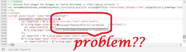 script console error