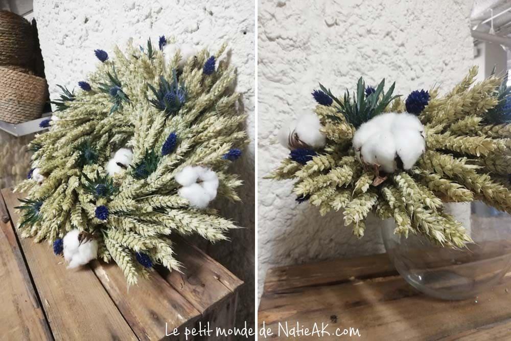 couronne de Noël de fleurs séchées