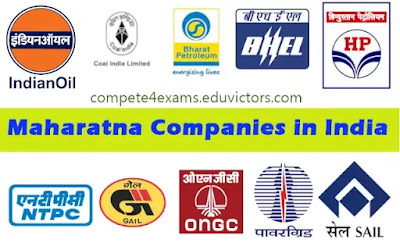 Maharatna Companies in India  (#India)(#economy)(#General Awareness)(#compete4exams)(#eduvictors)