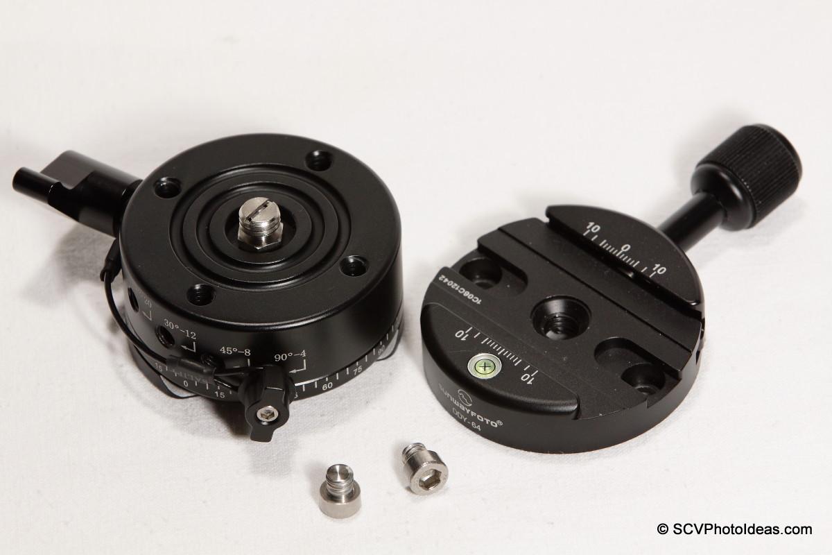 Sunwayfoto DDP-64SX w/ DDY-64 Discal clamp aside