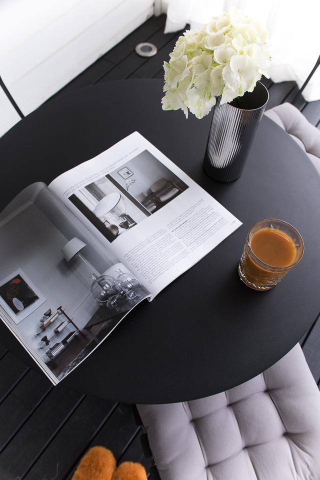 kahvihetki, terassi, villa h