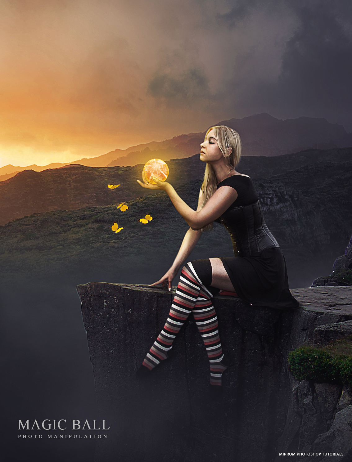 Create an Magic Ball Photo Manipulation In Photoshop