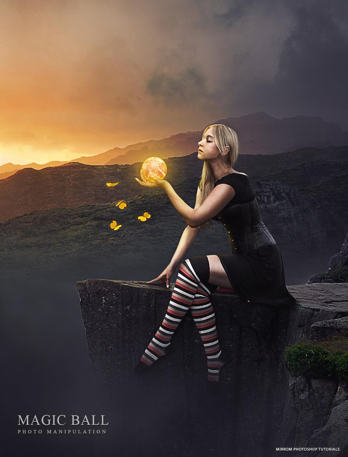 Create an Magic Ball Photo Manipulation In Photoshop