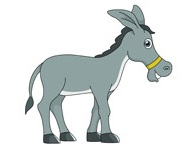 10 Lines on Donkey in Hindi