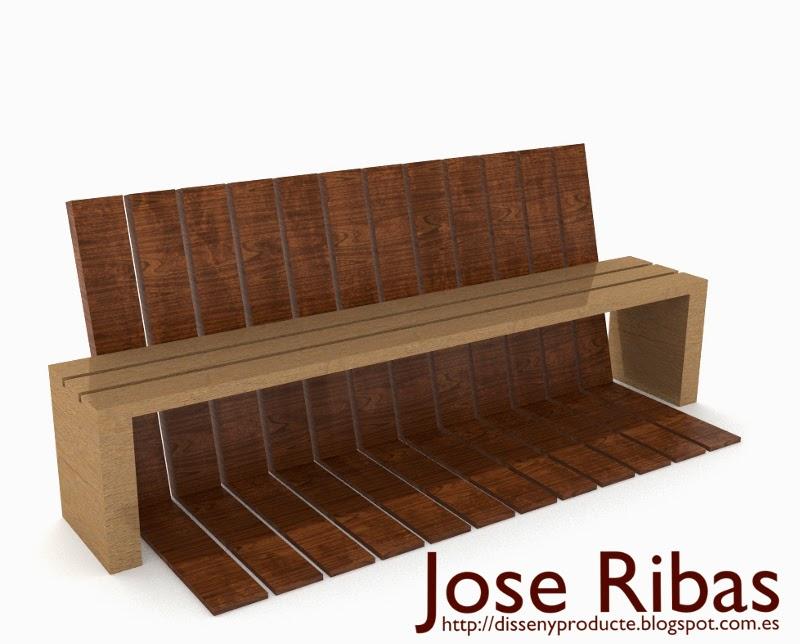 Banco de madera mobiliario urbano jard n disseny for Mobiliario de jardin de madera