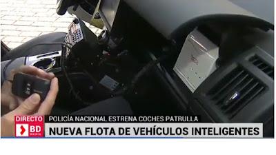 Lector de huella dactilar, DNI y pasaportes en coches de policia
