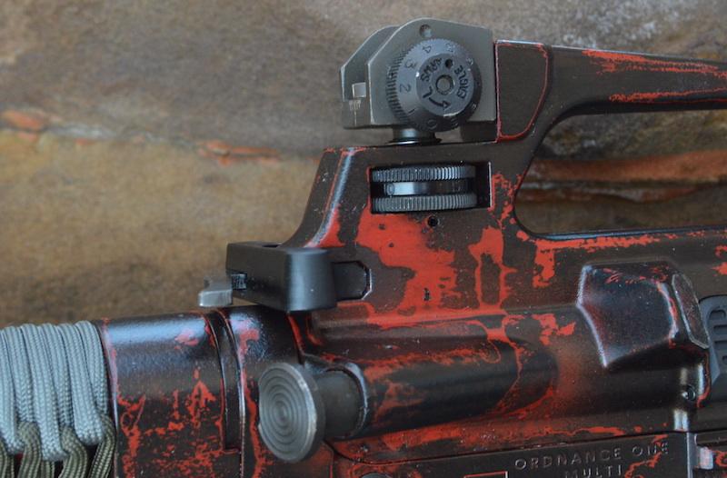 ar15 paint job we don 39 t have to cerakote to have deadpool s gun. Black Bedroom Furniture Sets. Home Design Ideas