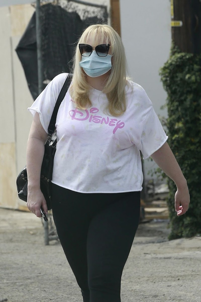 Rebel Wilson Wearing a Mask Outside in West Hollywood 21 Aug -2020