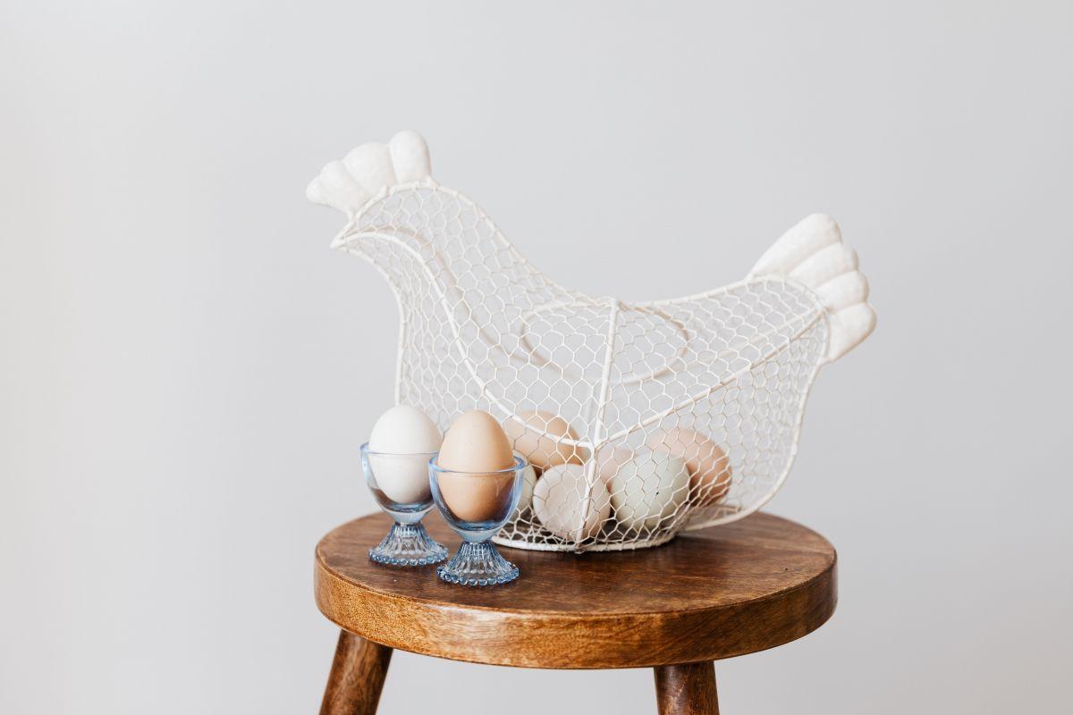 koszyk na jajka kura