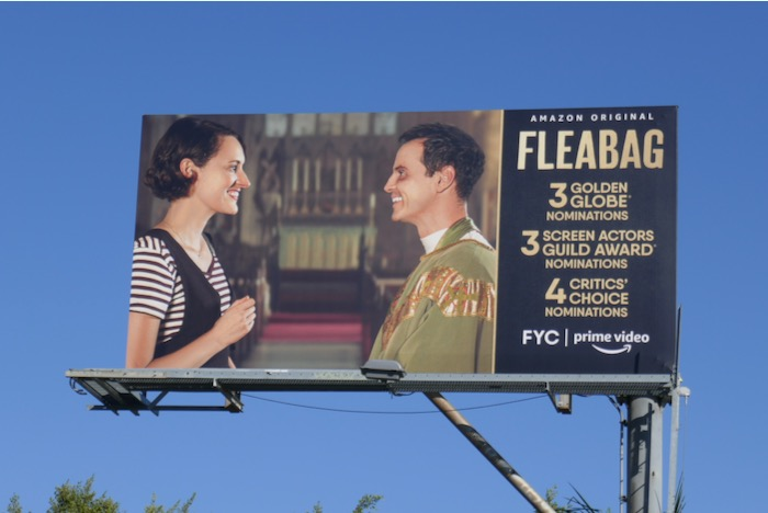 Fleabag season 2 Golden Globe nominee billboard