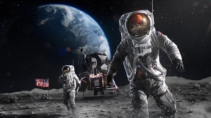 Papel de Parede Tumblr Astronautas na Lua