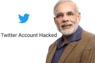 Narendra Modi twitter account hacked
