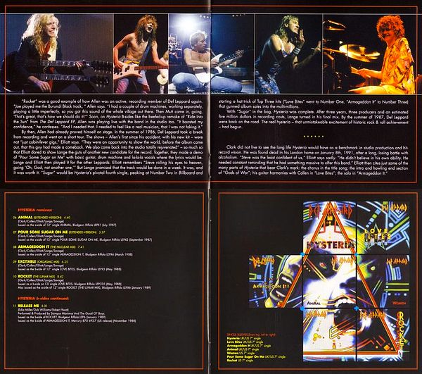 DEF LEPPARD - Hysteria [Japan SHM-CD Deluxe Edition 2-mini-LP remastered] booklet