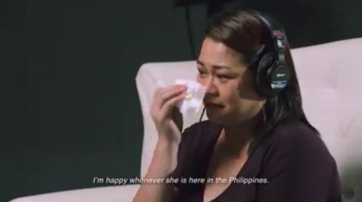 40% of Filipino Families have members working abroad. 68% have 1 parent working abroad. 32% have both parents working abroad.  ANG SAKRIPISYO SA PAGTRATRABAHO SA ABROAD AY NAKAKAPAGBIGAY NG MAGANDANG BUHAY SA INYONG MGA ANAK. PERO ANO BA TALAGA ANG GUSTO NILA? NAG-IMBITA KAMI NG 3 PAMILYANG OFW  AT ININTERVIEW ANG PARENTS NILA  Ofw 1. Merun akong pangarap na kapag sa pamilya ko, kapag nagkapamilya ako kung ano man yung hindi ko nakuha noong bata ako, gusto kong ibigay sa kanila. Kasi dito sa Pilipinas, hindi sapat ang sahod mo bilang isang food server o bar tender.  Ofw2. Bale po kasi yung chances po dito hindi naman po ako mapromote for regularity. So, yung wage kop o sa dalawa kong anak, single mother hindi kop o kayang ma-sustain kung ano po yung kailangan nila. So, nagdecide po akong sumubok sa abroad  Ofw3. After my graduation bumiyahe na ako ng Singapore. Nandoon ang opportunities ko at nakapaghanap ng trabaho para mabigyan ng magandang kinabukasan ng aming mga anak  The we interviewed their children and let the parents secretly listen in. Kid 1. Ang akong ina ay isang flight attendant. Masaya ako para sa kanya kase bumibiyahe siya. Interviewer:  Paano naman yung tungkol sa iyong ama? Kid1: Nagtratrabaho din po siya sa abroad.  Kid2:  Excited po siyang makaapgtrabaho sa abroad. Sobrang saya niya po. Sana maging masaya na yung mama ko po na magkatrabaho. Interviewer:  May mga pasalubong ba si papa/daddy sa iyo? Kid3: Yung huli na po, yung mga sapatos po. Kid2: yung mga mamahaling chocolates po at yung mga damit na galling ibang bansa. Kid1: Teddy Bear at mga unan  Interviewer: Anong pakiramdam mo na may mommy kang nagtratrabaho bilang flight stewardess? Kid1: Sobrang lungkot dahil hindi ko siya nakikita araw-araw. MInsan nararamdaman ko na hindi niya ako mahal pero ang sabi niya mahal niyaa ko. Kid3: Ano po, malungkot po ako. Interviewer: Anong nakakalungkot nay may magulang kang nasa ibang bansa, kian? Kid3: Aalis na po si Papa. Kid2: Yung pagpasok niya po sa 
