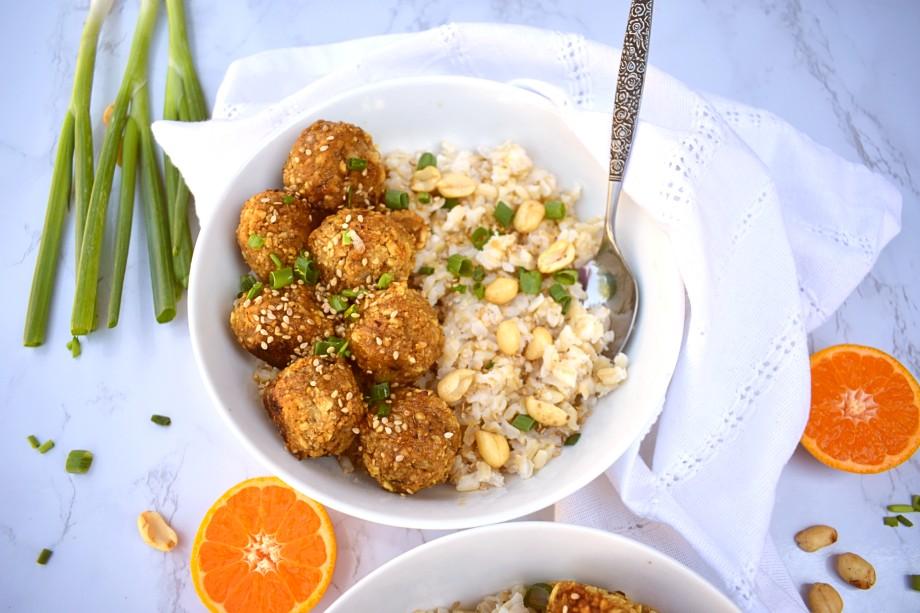 Sesame Vegan Meatballs