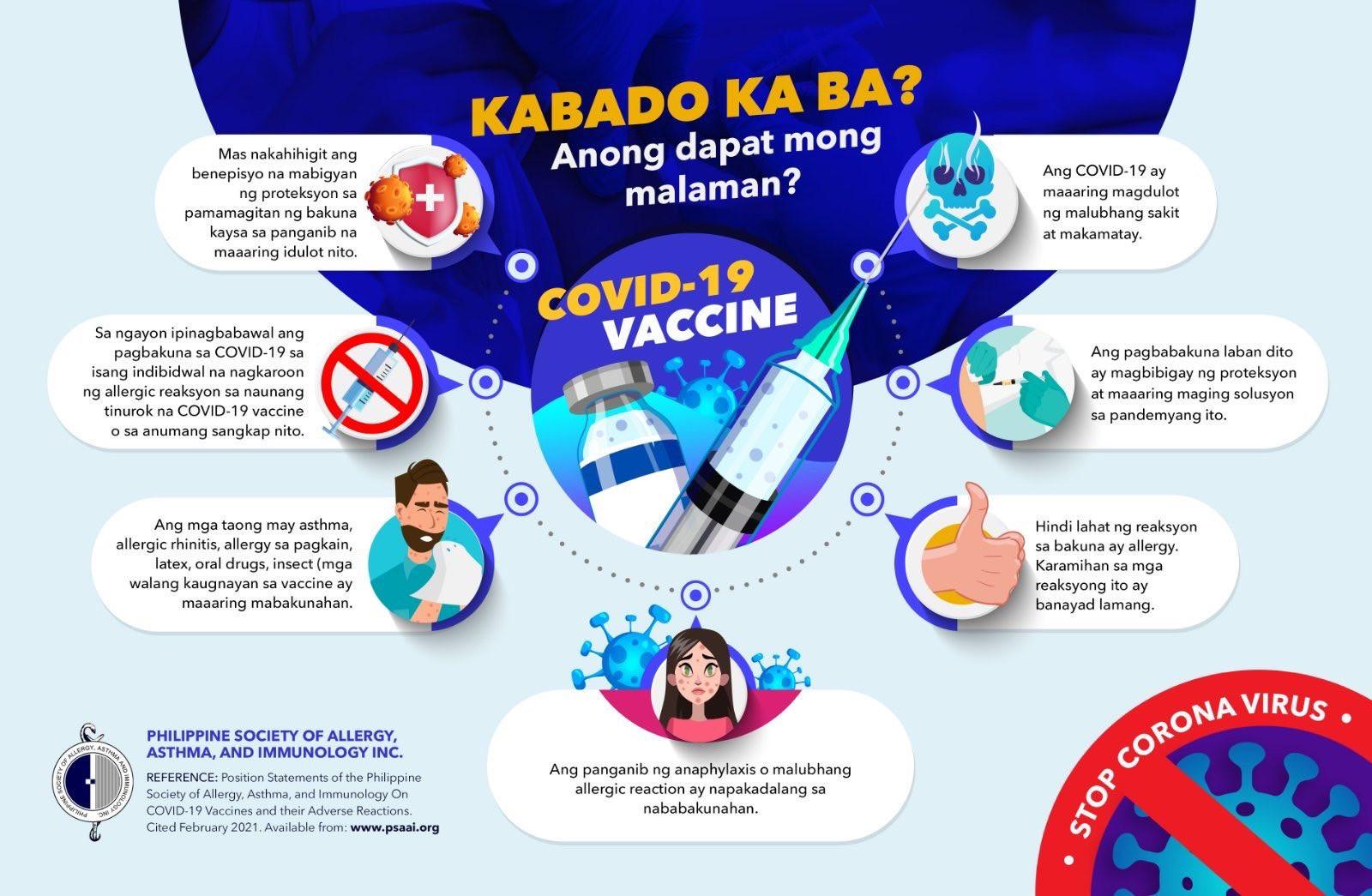 infographics on covid 19 vaccine Philippines Kabado Ka ba