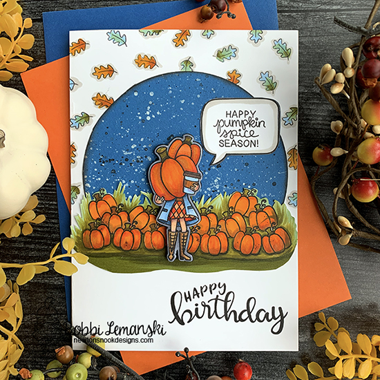 Happy birthday by Bobbi features Pumpkin Latte and Birthday Essentials by Newton's Nook Designs; #newtonsnook