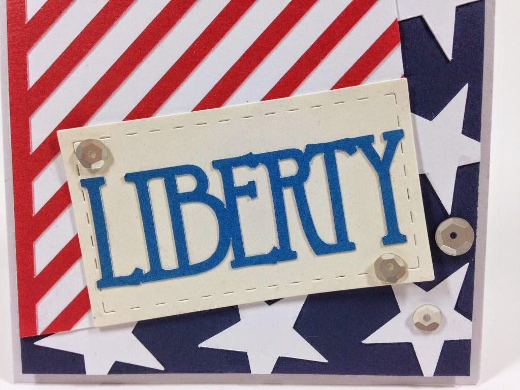 Cricut Patriotic card closeup