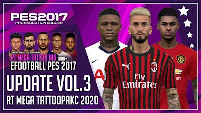 PES 2017 Mega Tattoo Pack AIO 2020 Update VOL 3 by Rean Tech [+1000]