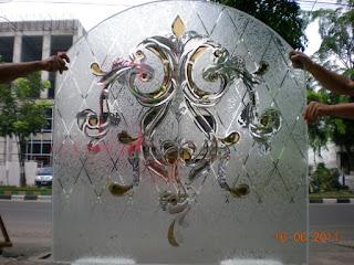 motif kaca inlay minimalis