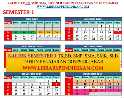 KALDIK TK, SD, SMP, SMA, SMK, SLB SEMESTER 1 TP 2019-2020, http://www.librarypendidikan.com/