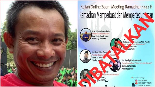 Ust. Firanda hingga Ust. Syafiq Riza di Pengajian Pelni yang Dibatalkan, Dede: Dominan Radikal