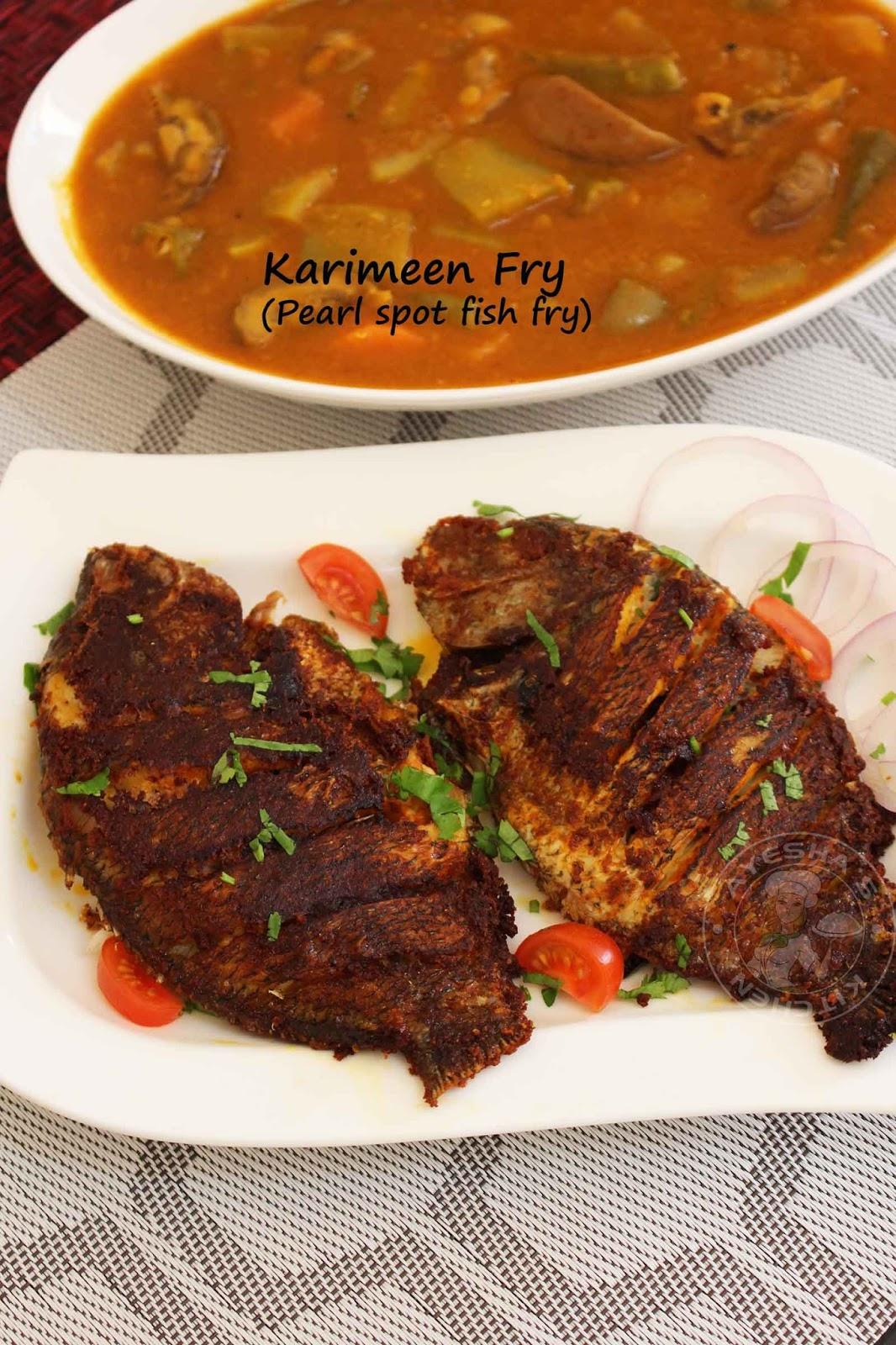 Fry fish recipe pearl spot karimeen fish fry for Fried fish recipes