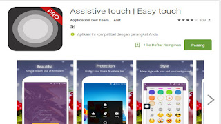 cara pasang tombol menu seperti iphone di android