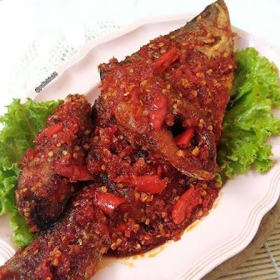 Resep Olahan Ikan - Ikan Kakap Sambal Cabe