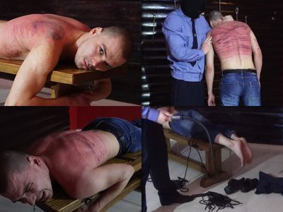 RusStraightGuys - Extreme flogging by whip of boy 22 y.o. at Court