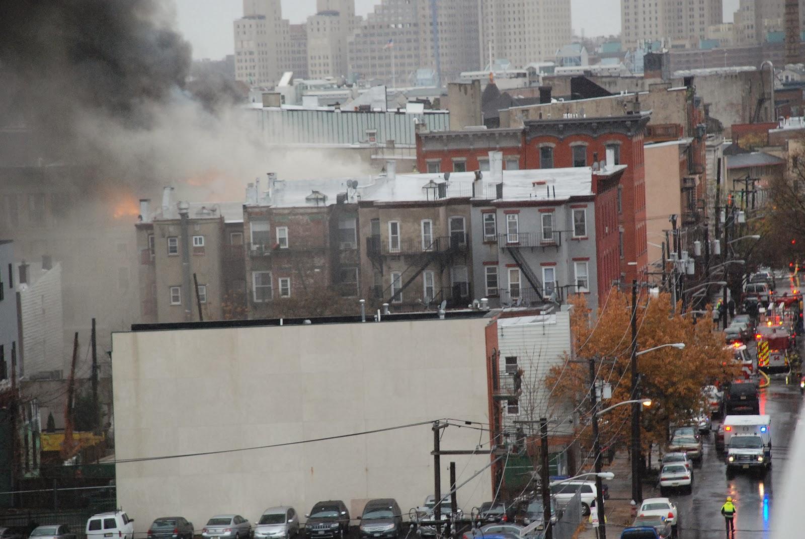 Jersey City Desk: Breaking News: Major fire in downtown Jersey City