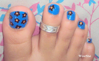 Flower Toe Nail Art Step by Step