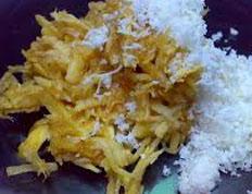 Resep praktis (mudah) kue sawut singkong spesial (istimewa) enak, legit, sedap, nikmat lezat
