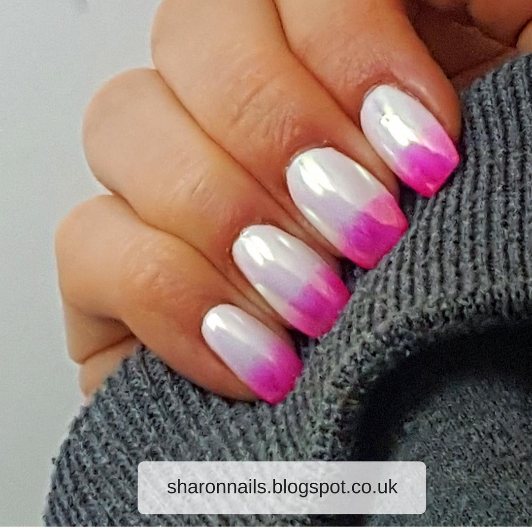 Aurora Unicorn Chrome Gradient Nails Tutorial