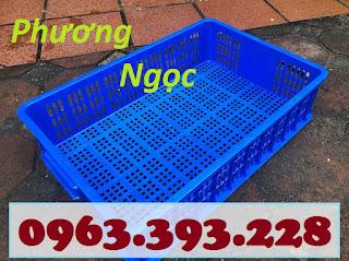 Sọt nhựa rỗng HS008, sọt nhựa công nghiệp,sóng nhựa hở cao 15, sọt nhựa đựng hàng siêu thị