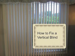 How to Fix a Vertical Blind