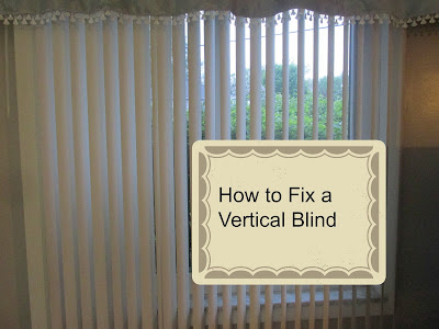Such a easy way to fix Vertical blinds and takes just a few minutes!