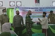 Babinsa Sertu Hamadi Dampingi Kades Salurkan BLT-DD Tahap III Bulan Agustus