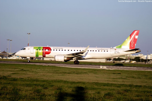 TAP EXPRESS - LPPT - CS-TPU - SETÚBAL - EMBRAER 190
