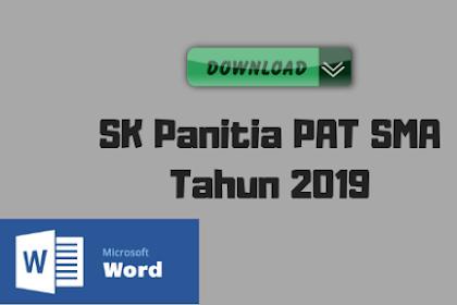 SK Panitia PAT SMA Tahun 2019