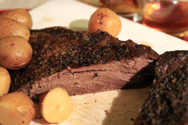 http://www.nebraskabison.com/pages/bison-brisket-with-roasted-potatoes-gravy