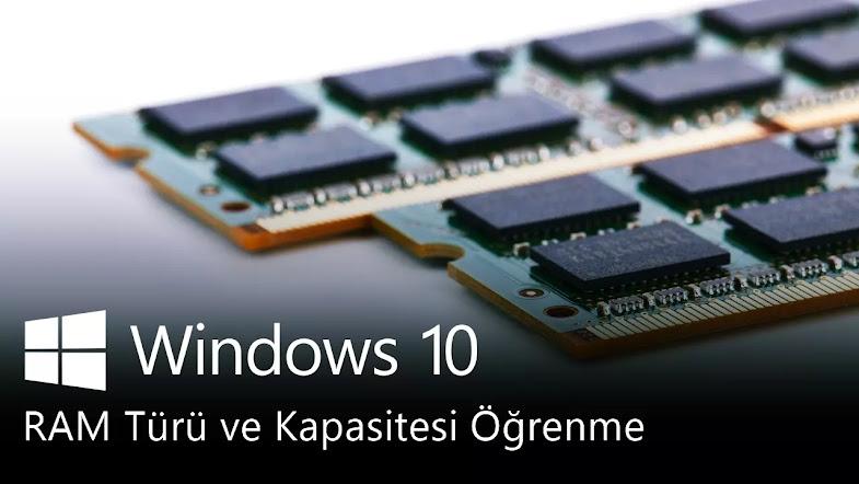 Bilgisayar RAM Türü Öğrenme (DDR1/2/3/4)