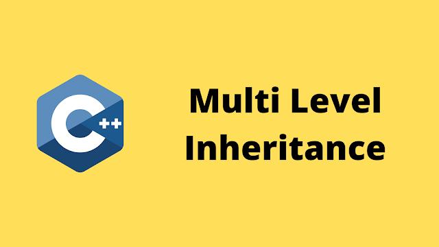 HackerRank Multi Level Inheritance solution in c++ programming