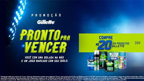 Promoção Gillette Pronto Pra Vencer