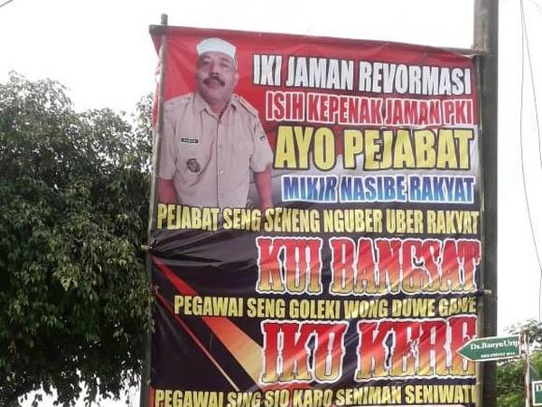 Kades Pemasang Baliho 'Enak Zaman PKI': Minta Maaf, Lalu Ngamuk ke Satgas