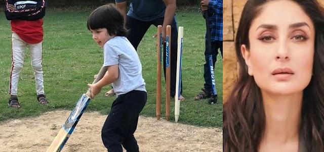 हाथों में बल्ला थाम क्रिकेट खेलते नजर आया करीना का लाडला तैमूर, तस्वीर शेयर लिखा...